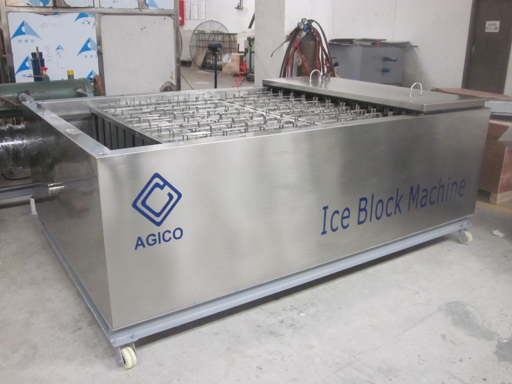 brine water tank in block ice machine
