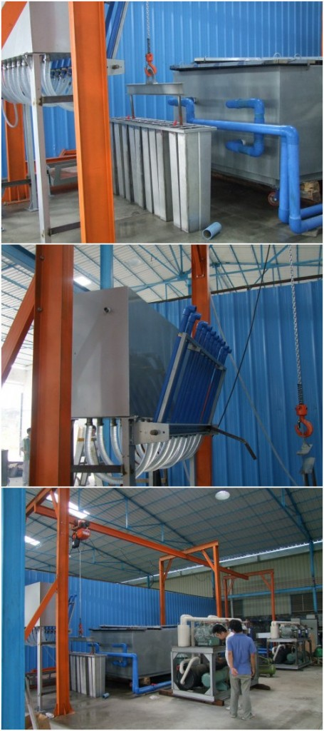 ice harvest system for ice block machine